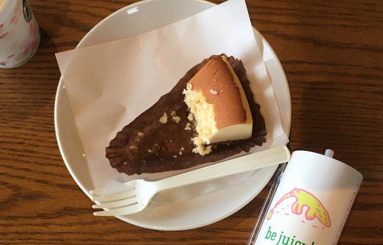 【スターバックス玉湯店】ニューヨークチーズケーキ420円(税抜き)